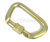 OP STEEL D SCREW GATE CARABINER 63KN
