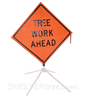 TREE WORK AHEAD MESH SIGN
